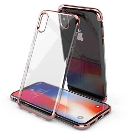 Amazon.com: iPhone X – Funda (Plata), S, Rose gold: Cell ...