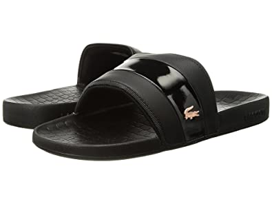 3267c3db6 Lacoste Men s Frasier-118 Black Gold Logo Slides Sandals Shoes Sz  10  Buy  Online at Low Prices in India - Amazon.in