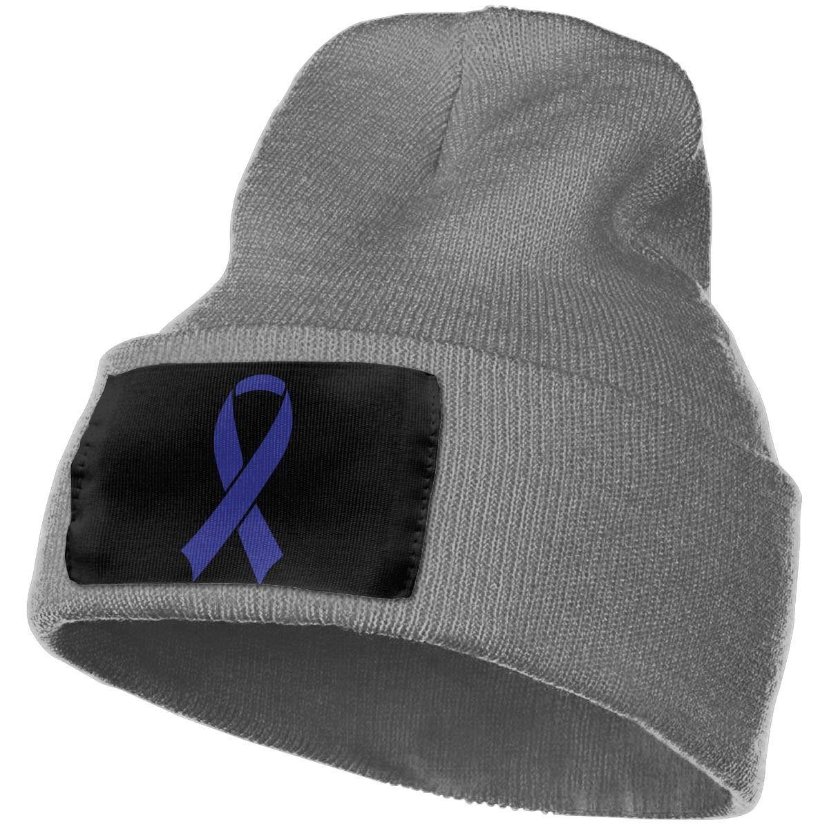 Colon Cancer Awareness Ribbon Men /& Women Knit Hats Stretchy /& Soft Ski Cap Beanie