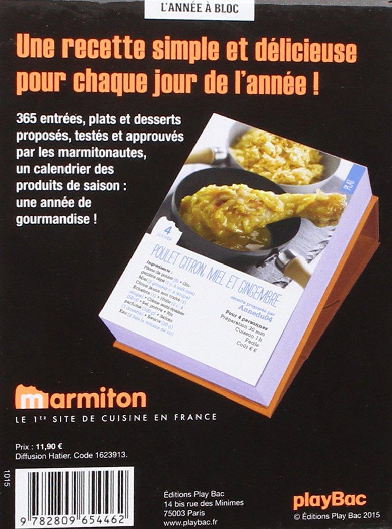 Amazon.fr , Calendrier 365 jours de recettes Marmiton , L