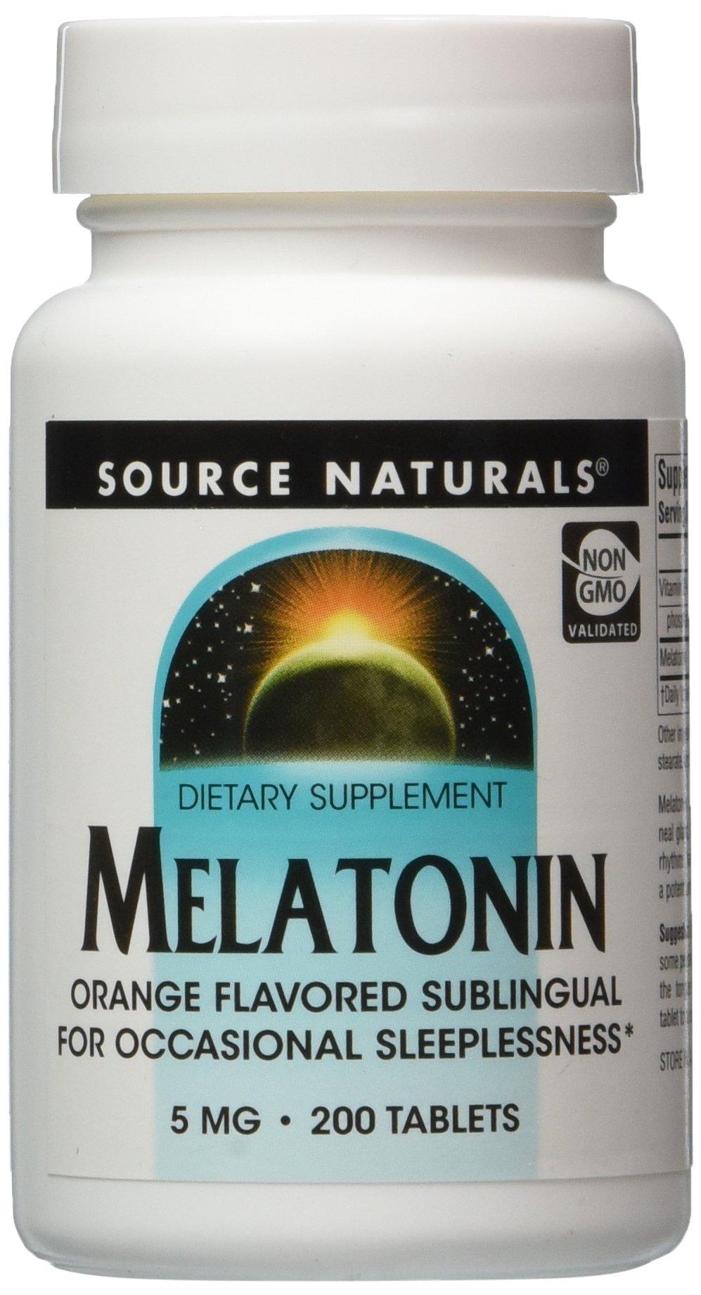 Source Naturals: Melatonin 5 mg 200 Orange Lozenge
