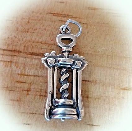 Sterling Silver Wine Bottle Opener Charm