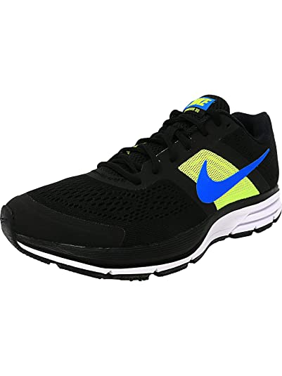 ee5ff4f7c2662 Amazon.com  Nike Men s Air Pegasus+ 30 Black Photo Blue-Volt-White  Ankle-High Running Shoe - 8.5M  Nike  Sports   Outdoors