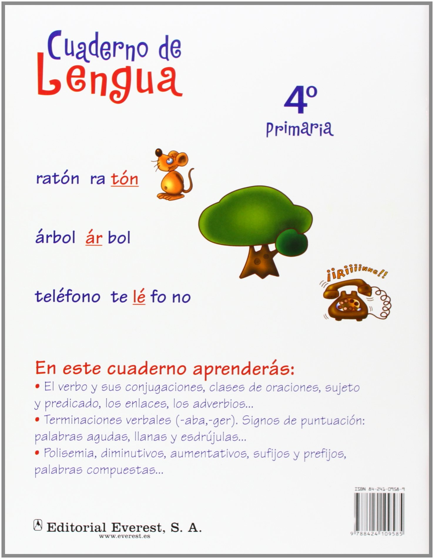 Cuaderno de Lengua 4º Primaria Cuadernos de lengua primaria - 9788424109585: Amazon.es: Muñoz Moro Beatriz: Libros