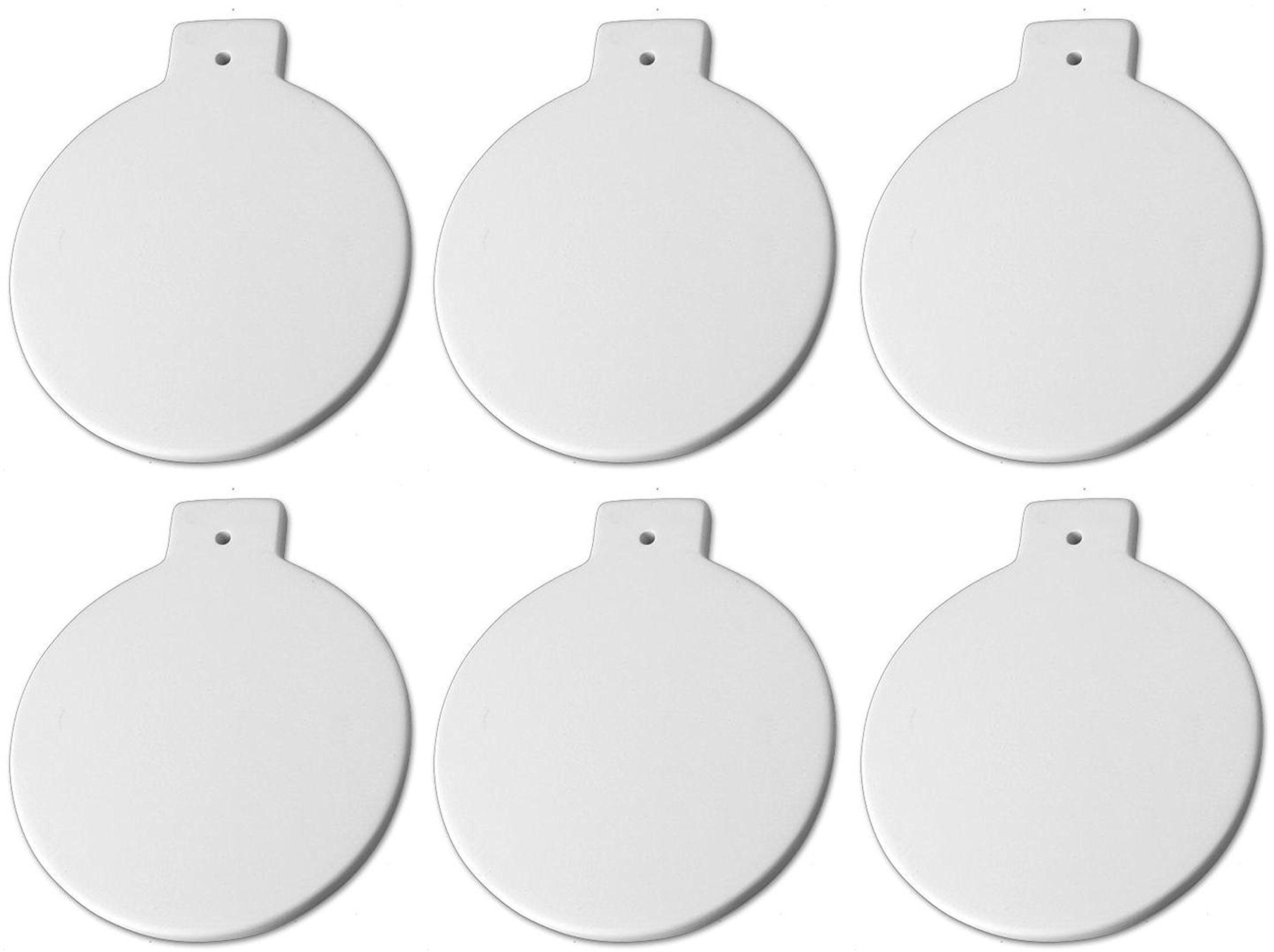New Hampshire Craftworks Christmas Ball Ornaments - Set of 6 - Host Your Own Ceramic Painting Party by New Hampshire Craftworks