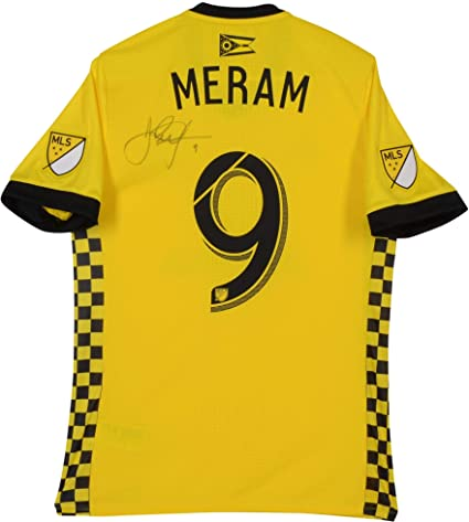 premium selection bd2e9 60772 Justin Meram Columbus Crew SC Autographed Match-Used Yellow ...