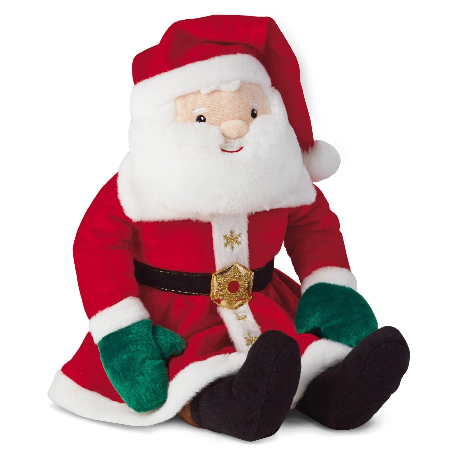 amazoncom hallmark north pole santa claus plush stuffed toy home kitchen - Stuffed Santa Claus
