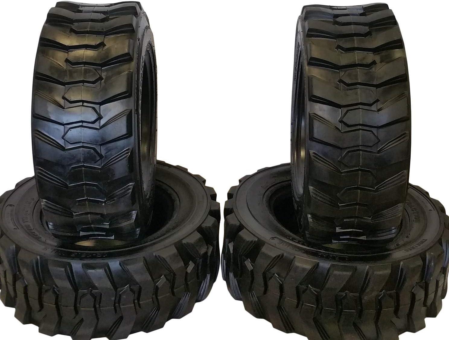 Amazon Com Set Of Four 4 12 16 5 Skid Steer Loader Tire 14 Ply Nhs Sks 400 Automotive