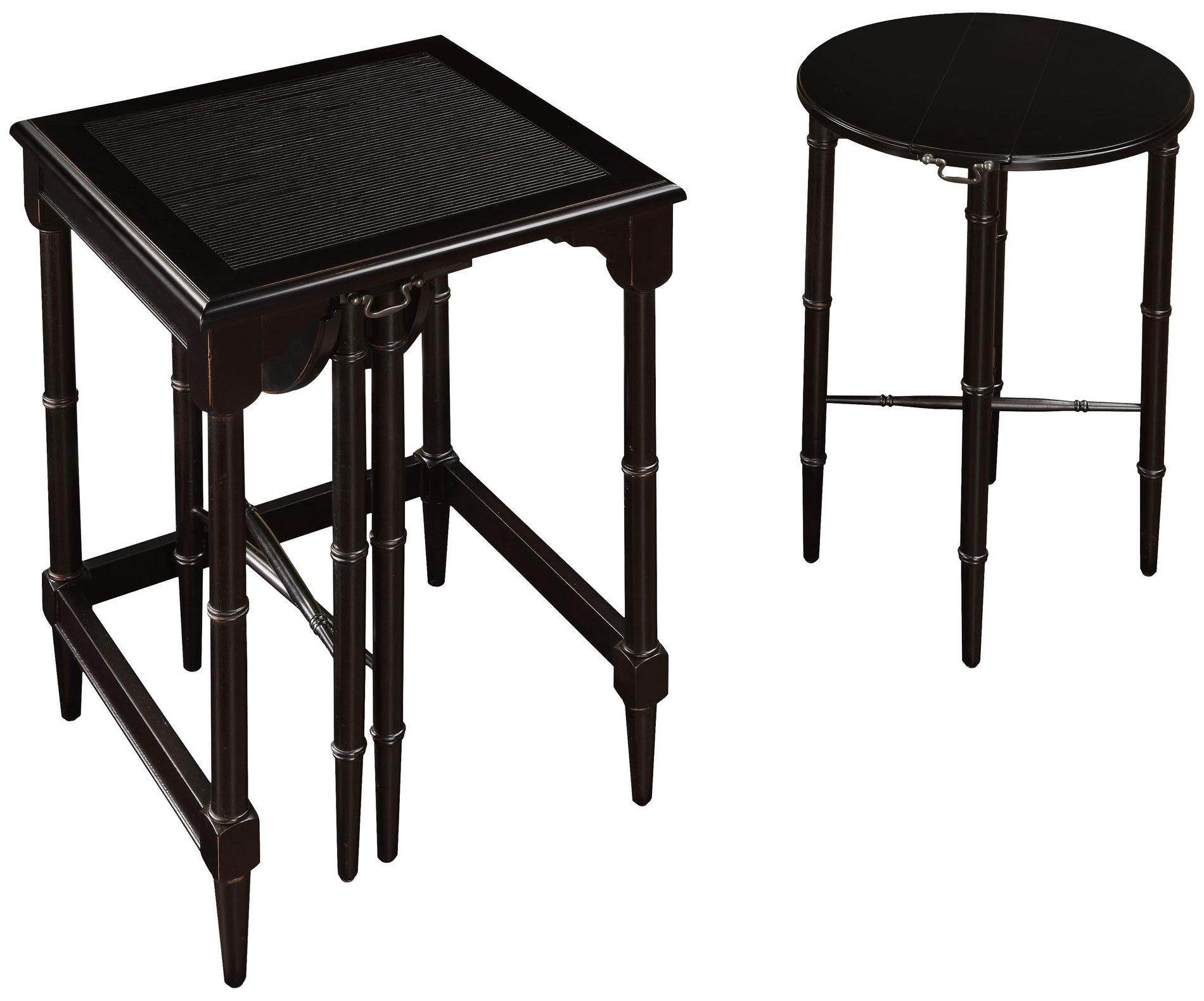Sterling 6003205 Melbourne Traditional Asian Hardwood Nesting Tables, 24-Inch, Ebony