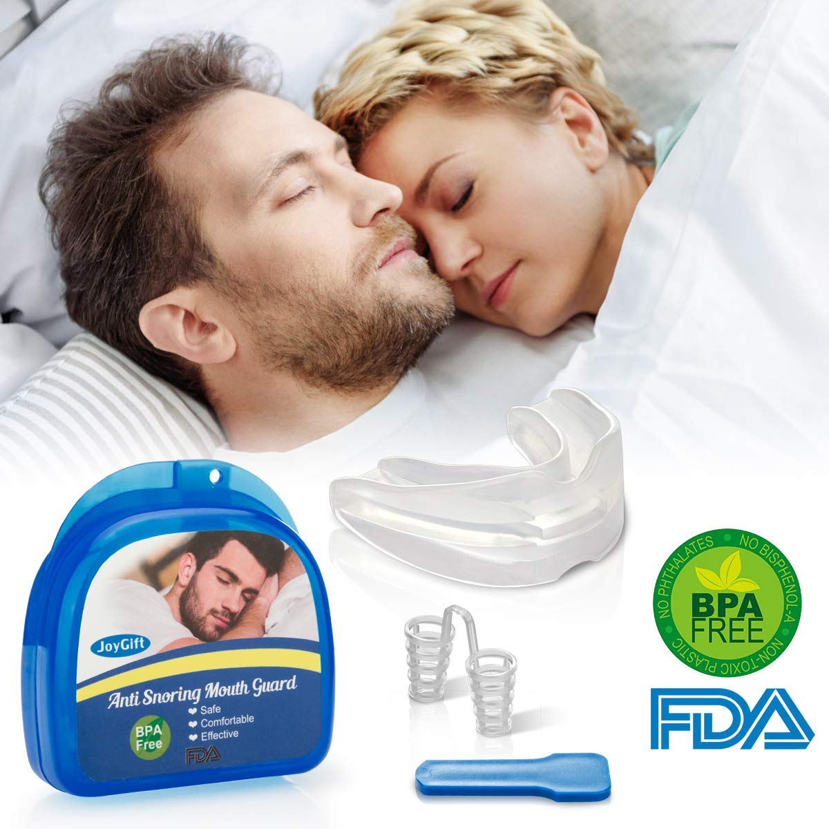 Anti Snoring Mouth Guard, Anti Snoring Devices Snore Solution Anti Snoring Mouthpiece for Sleep Aids Bruxism Snore Reduction Stop Snoring Devices Best Snoring Stopper Snoring Reducing Mouthpiece