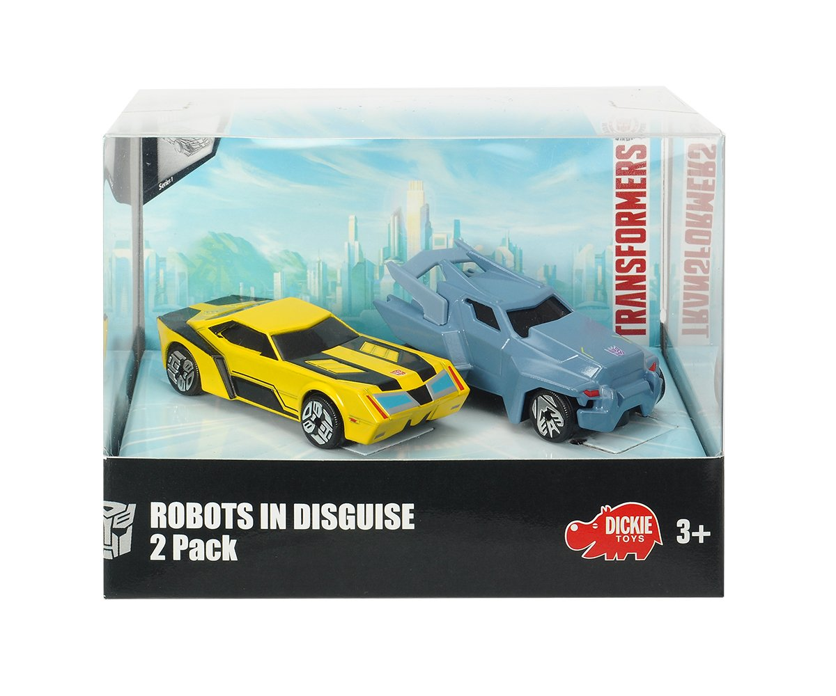 Dickie Toys Transformers Die Cast Modelo Steeljaw Robots in Disguise Nuevo