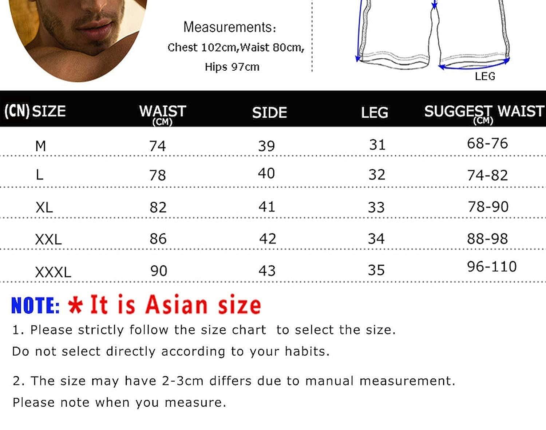 Big Hit Men Breathable Sport Board Shorts Elastic Waist Swim Trunks