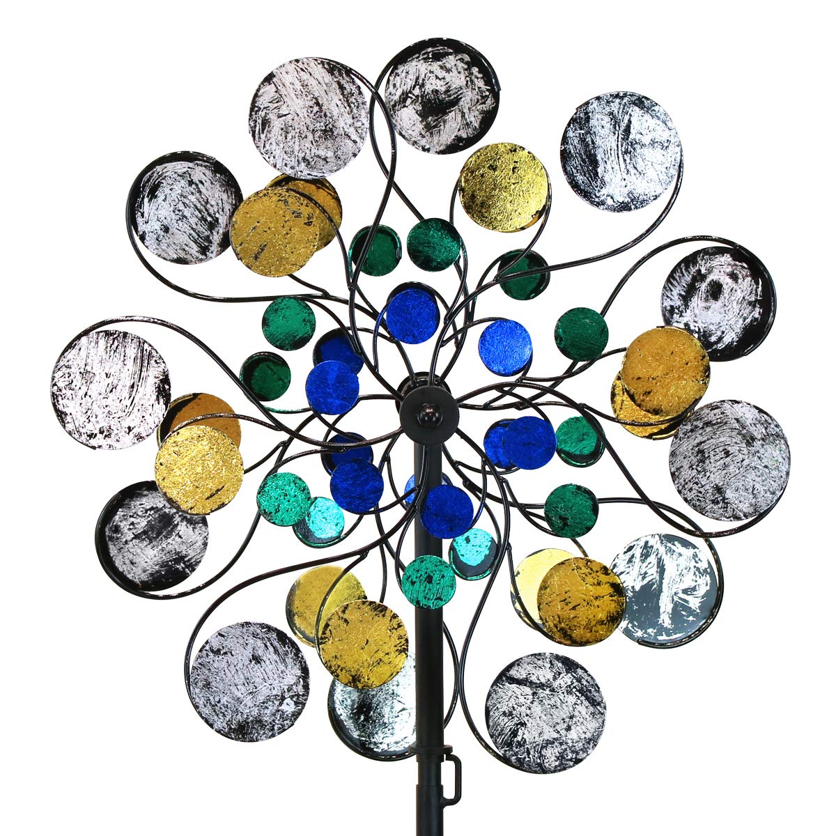 WinWindSpinner Kinetic Wind Spinners Outdoor Metal Yard Spinner with Gardening Decorations with Dual Direction Decorative Lawn Ornament Wind Mills by WinWindSpinner