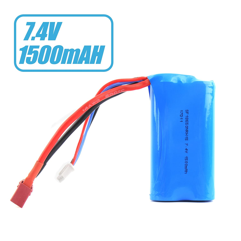 GizmoVine Batería Lipo WLtoys 12428 7.4V 1500mAh Baterías universales para WLtoys 4WD RC Cars 12428 12401 12402 12403 12404 Repuesto de Repuesto