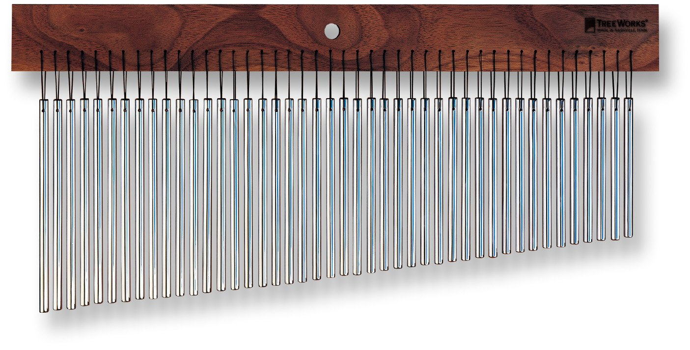 TreeWorks Chimes TRE44 Made in USA Large StudioTree Single Row Bar Chime with Ultra-Thin 1/4 Bars for Studio Recording (VIDEO)