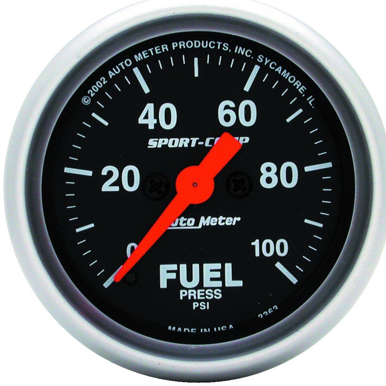 Auto Meter 3363 Sport-Comp Electric Fuel Pressure Gauge by Auto Meter (Image #1)