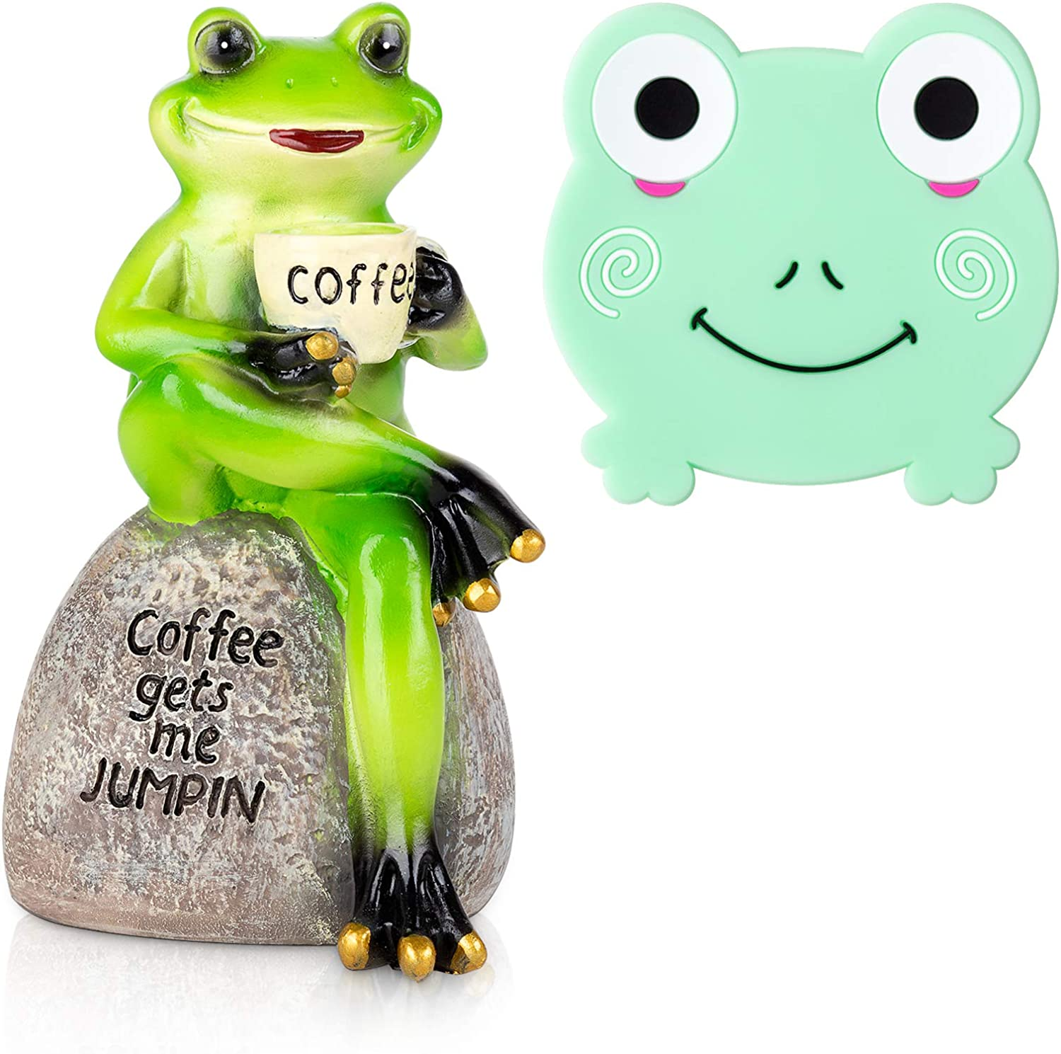 Frog Statue Figurine Home Decor, 6