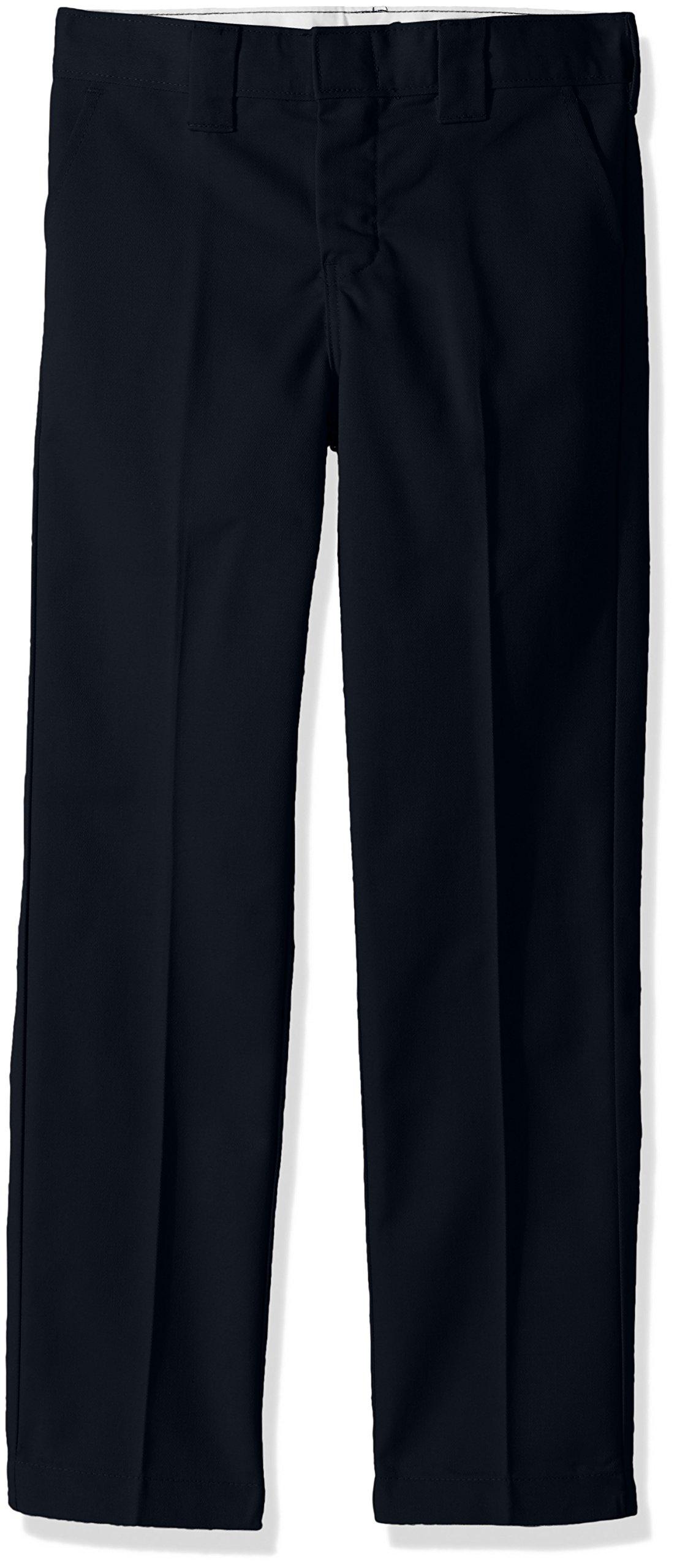 dickies Boys' Little Slim Straight Pant 4 to 7, Dark Navy, 7 by dickies