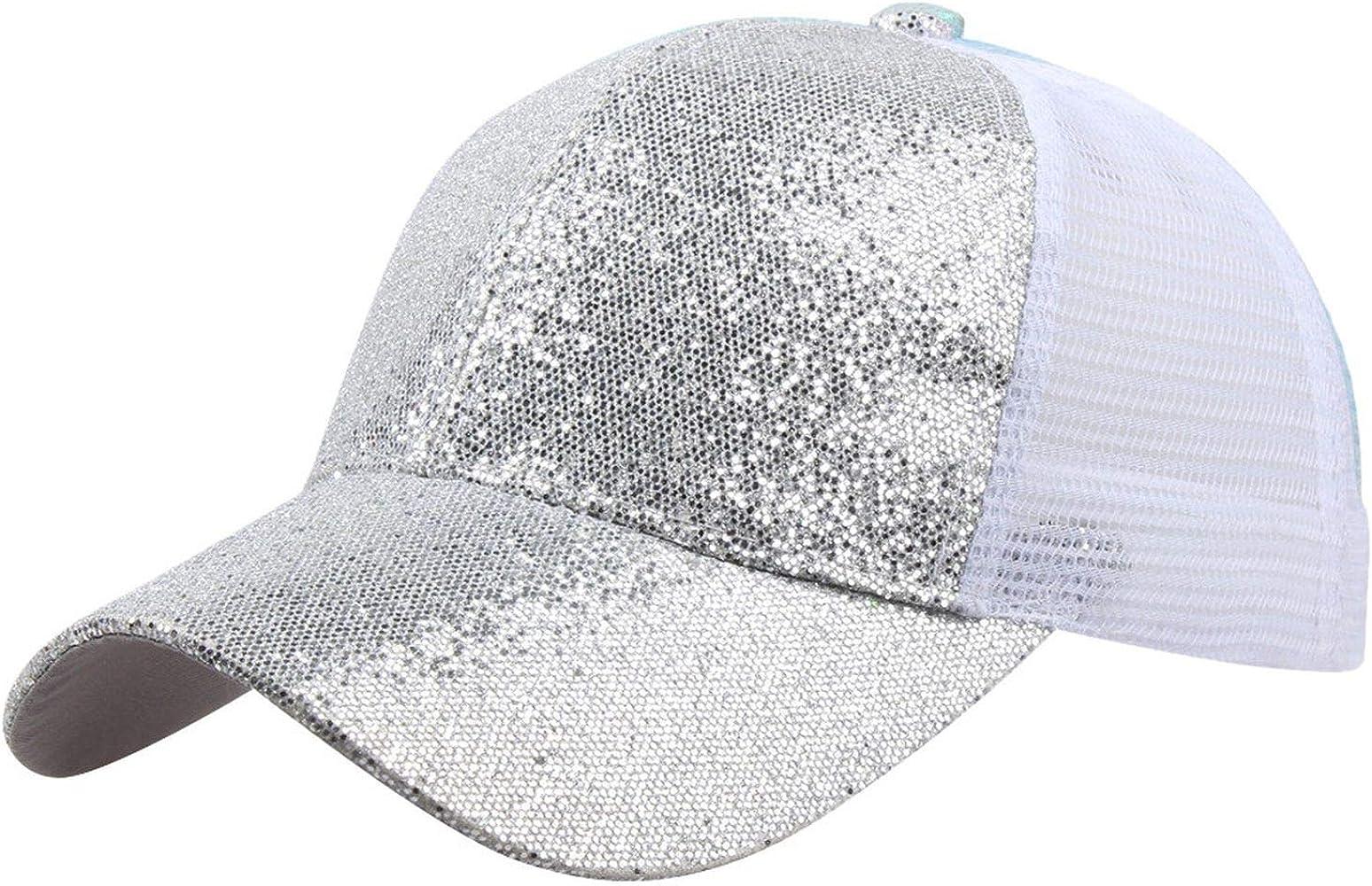 FLY-plant - Gorra de béisbol para Mujer, con Lentejuelas, Sombrero ...