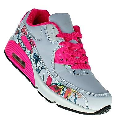 Details zu Neon Luftpolster Turnschuhe Schuhe Sneaker Sportschuhe Neu Damen 041