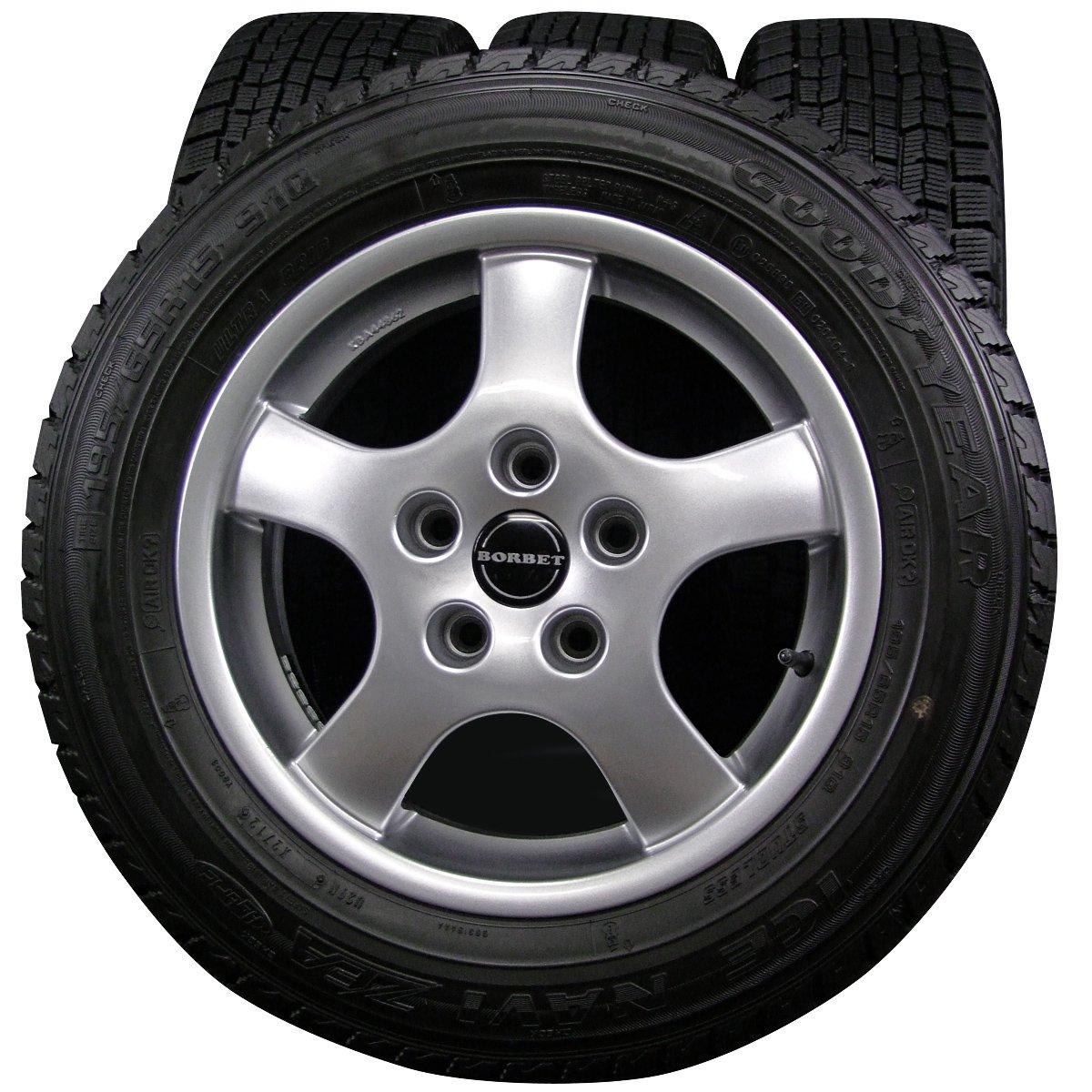 15インチ 4本セット スタッドレスタイヤ&ホイール GOODYEAR ICENAVI ZEA 195/65R15 BORBET type CB B01N95058I