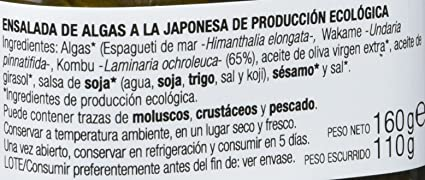 Porto Muiños Ensalada de Algas a la Japonesa - Paquete de 2 x 170 gr - Total: 340 gr: Amazon.es: Alimentación y bebidas