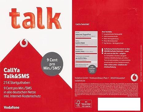 Callya Sim Karte.Vodafone D2 Callya Sim Only Talk Sms 10 Euro Startgu