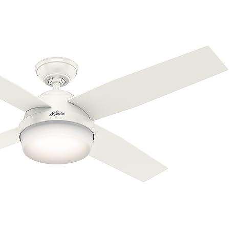 Hunter fan 52 in contemporary ceiling fan in fresh white with led hunter fan 52 in contemporary ceiling fan in fresh white with led light and remote aloadofball Images
