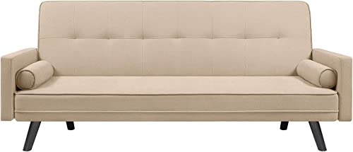 VICTONE Futon Sofa Bed Modern Convertible Couch Adjustable Fabric Sleeper Sofa