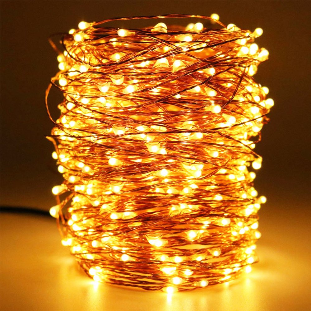 HaMi Dimmable LED String Lights,33 ft 100 LEDs Outdoor Twinkle Decorative Lights for Bedroom,Wedding,Patio,Gate,Party,UL Certified - White