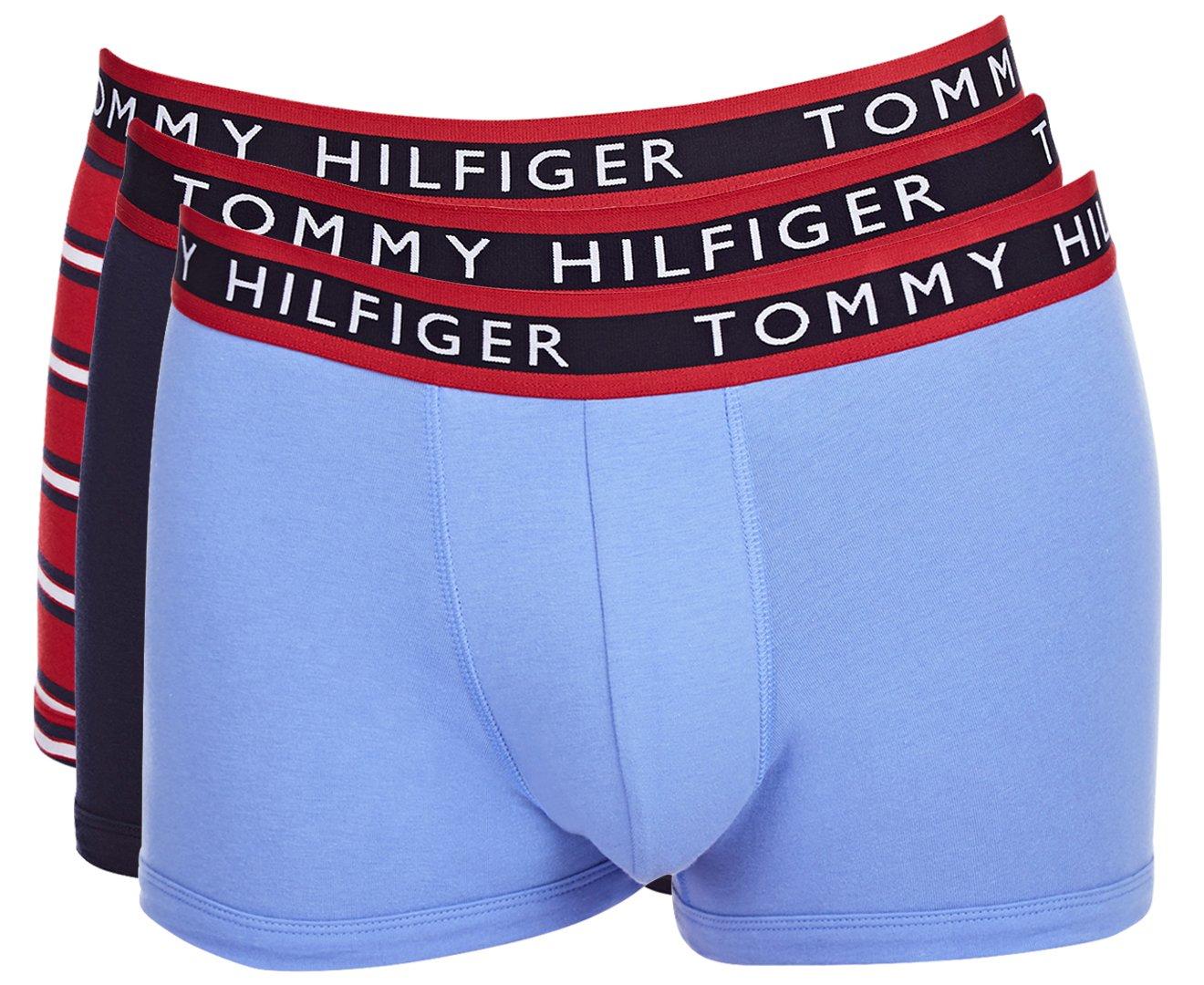 TOMMY HILFIGER (トミーヒルフィガー) ボクサーパンツ 3枚セット 09T0963 B06X9JN2QM X-Large|レンガ レンガ X-Large