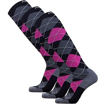 Amazon.com: Argyle calcetines de compresión – Graduado ...