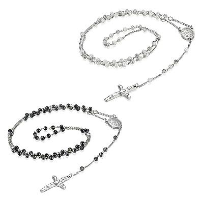2pcs Jésus Prièrre Bijoux Pendentif Jewelrywe Collier Croix Chrétien oexBCWrdQE