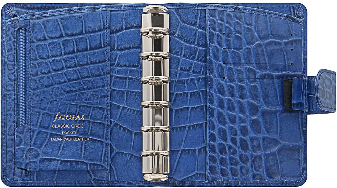 Filofax 26006/Organizador Croc Pocket Classic Indigo