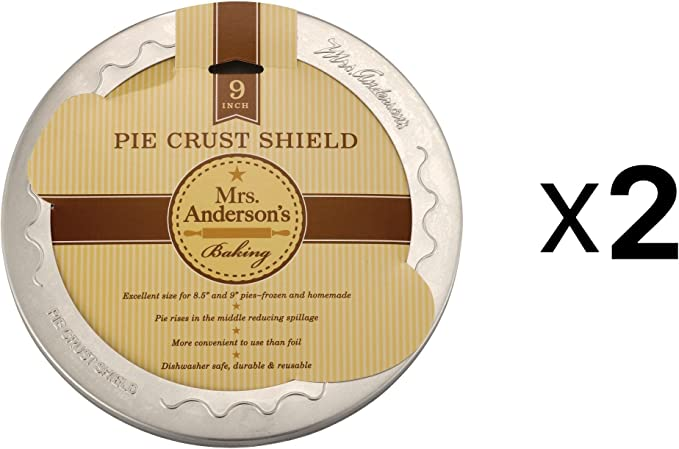 8 ½ to 9 Inch Pies Pack of 4 Anderson/'s Baking 9 Inch Pie Crust Shield Mrs