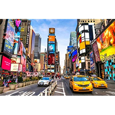 Jigsaw Puzzles 1000 Pieces for Adults Diffcult Mini Piece Puzzles Family Game, Gift for Family Grandparents Kids-New York Time Square: Toys & Games