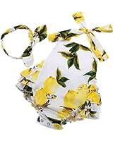 PrinceSasa Baby Girl's Floral Print Ruffles...