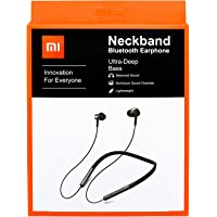 Mi Neckband Bluetooth Wireless Earphones with Mic and Volume Button Compatible for All Mi Phone