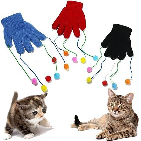 Divertido guante de juego para gatos y gatitos