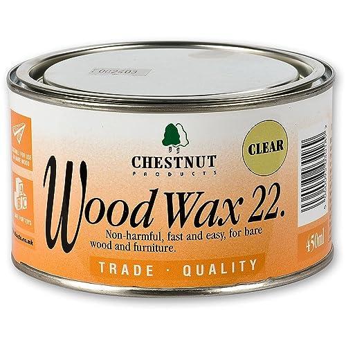 Chestnut WW22 Wood Wax 22 , 450ml Clear