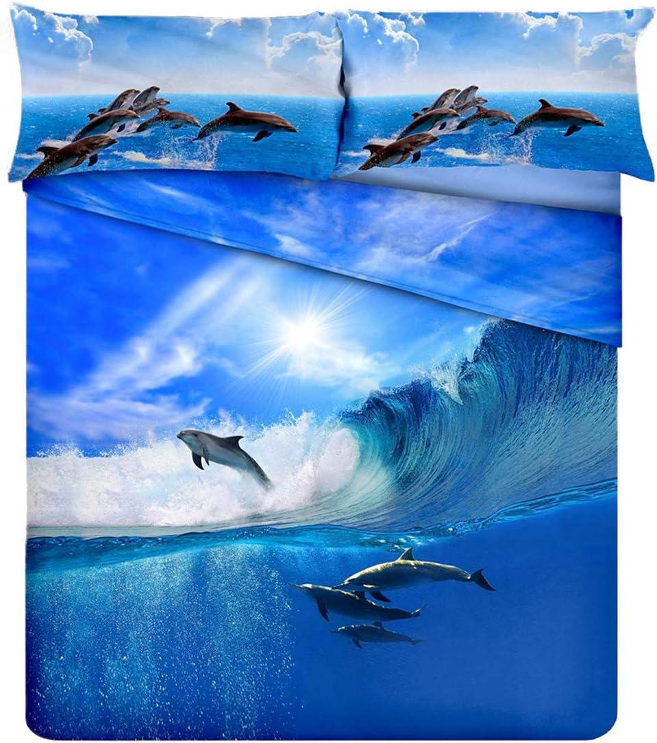 Juego Colcha Invierno Delfines Impresión Digital Alta resolución + ...