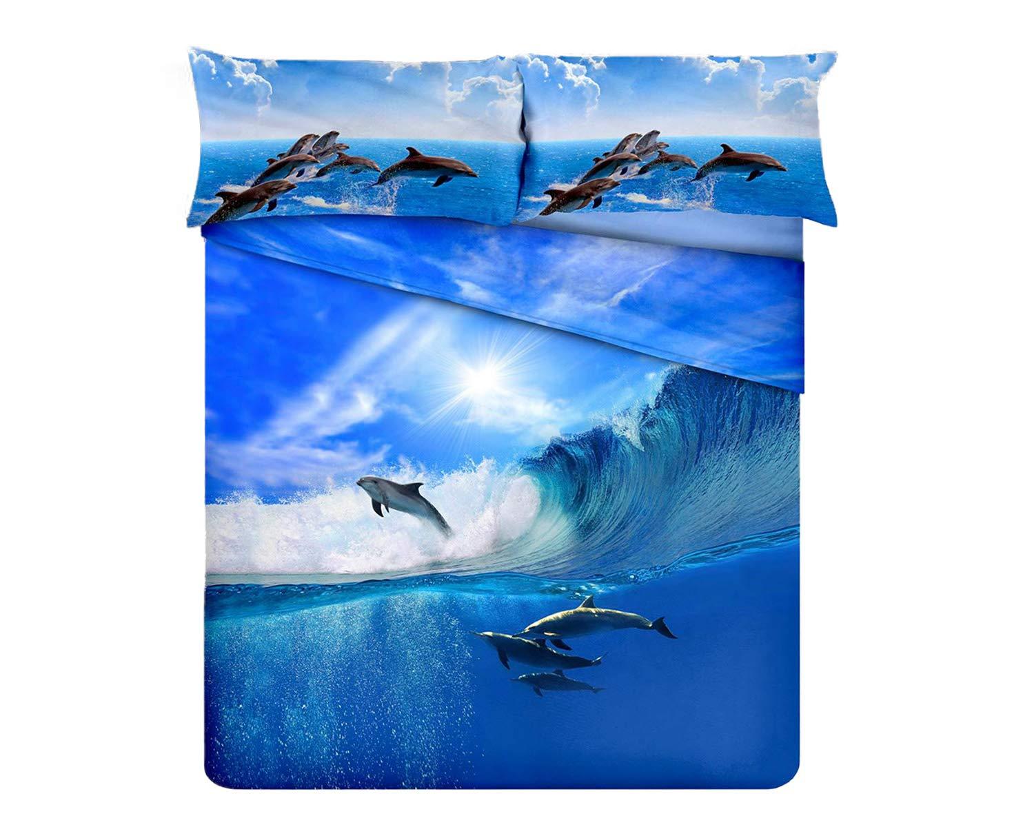 RP r.p. Juego de edredón de Invierno Delfines impresión Digital de ...