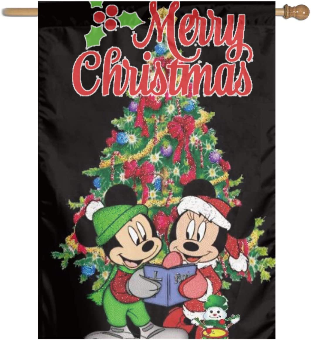 Stockdale Mouse Min-ni-e Christmas Garden Flag Holiday Courtyard Decoration for Indoor/Outdoor
