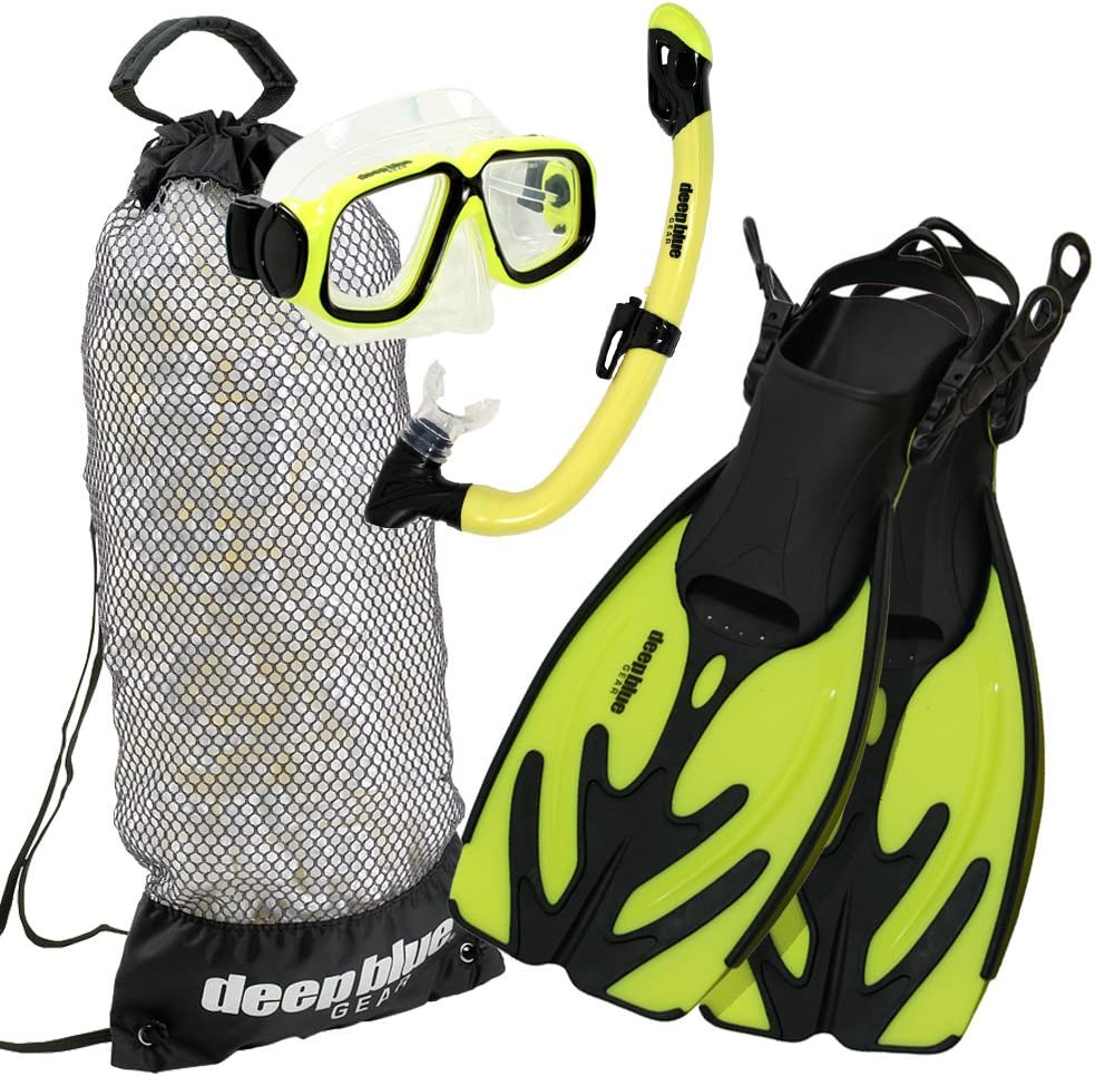 Deep Blue Gear Kids Maui Jr Diving and Snorkeling Mask Optical Lens Ready