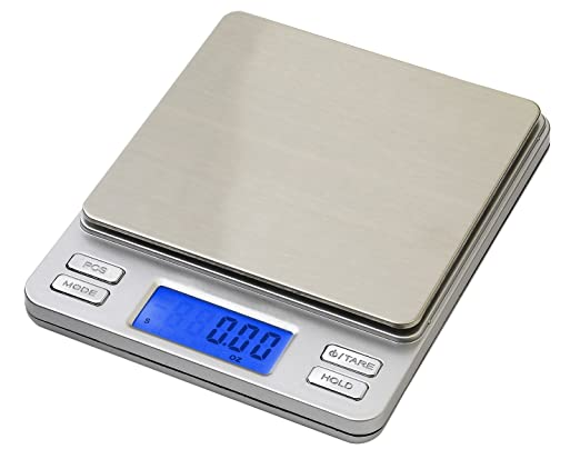 142 opinioni per Smart Weigh TOP500- Bilancino digitale con display LCD retroilluminato, funzione