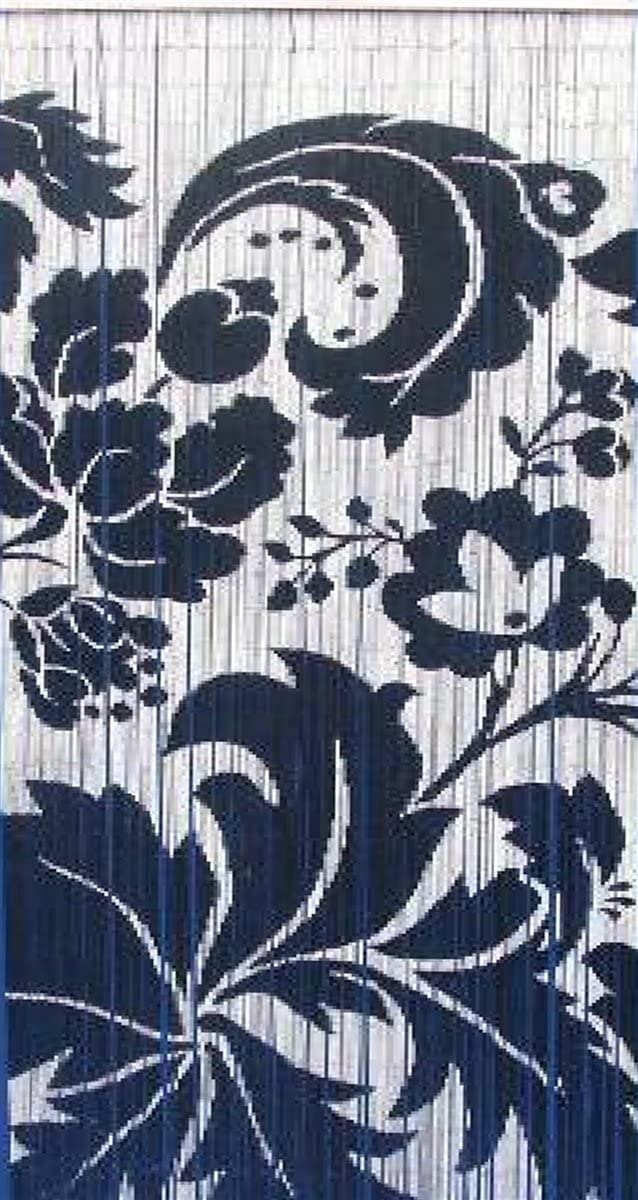 Bamboo Curtain black and white floras