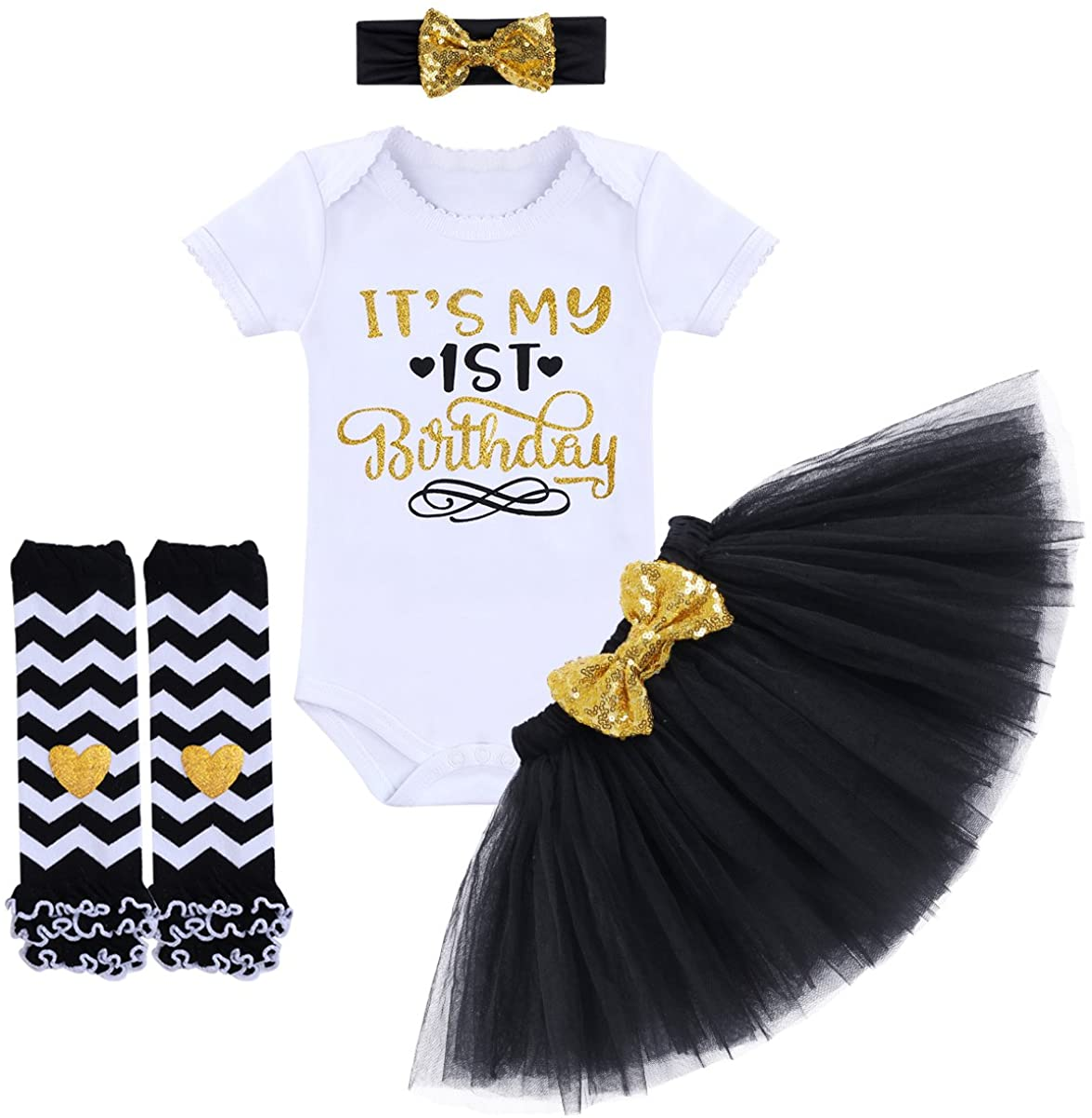 Unique Baby Girls Chevron Romper Headband Set