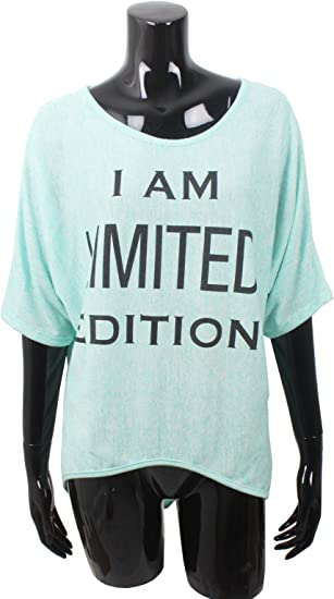 Emma /& Giovanni T-Shirt//Top I am Limited Edition Donna