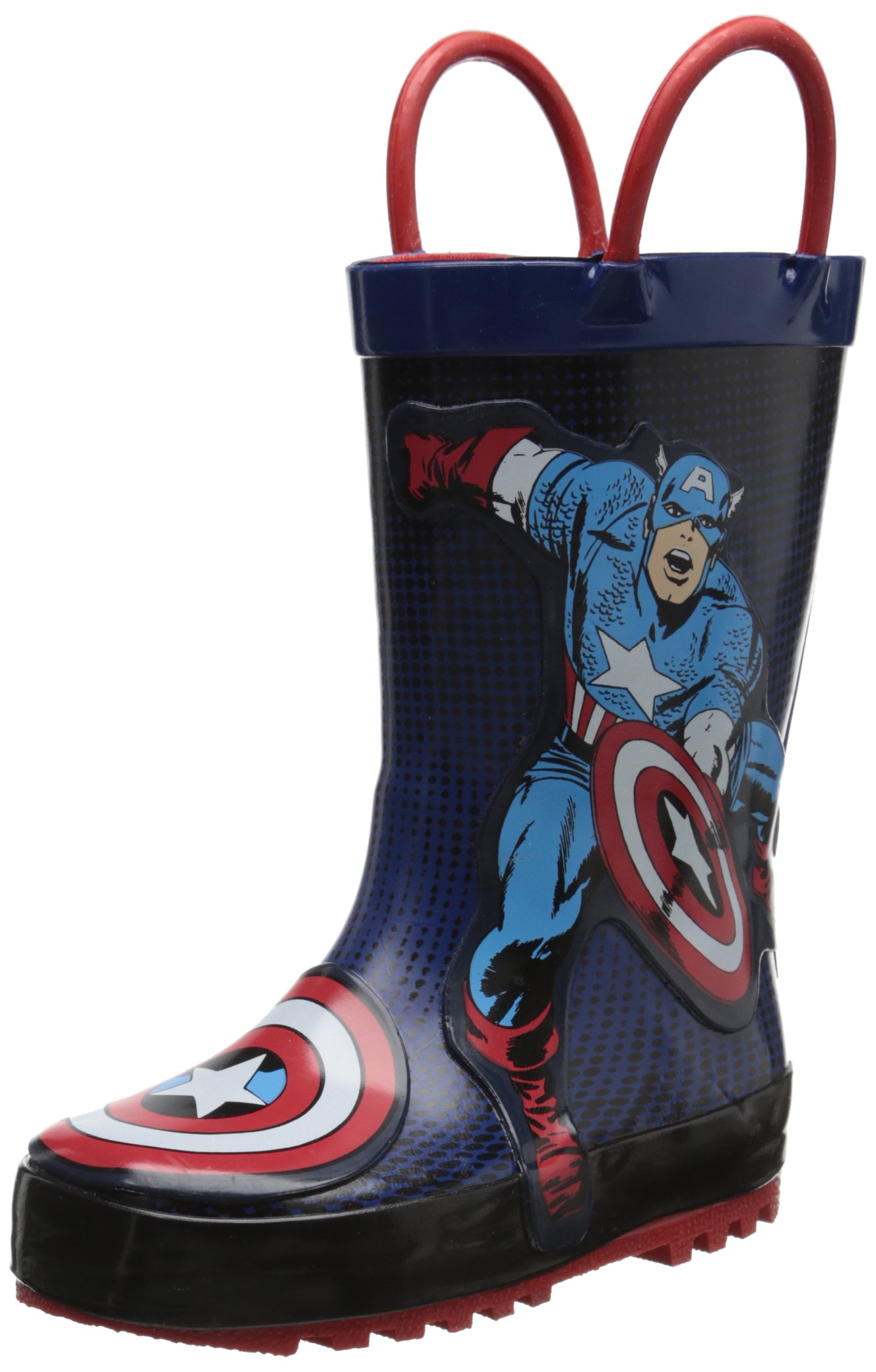 Western Chief Captain America Rain Boot (Toddler/Little Kid/Big Kid)