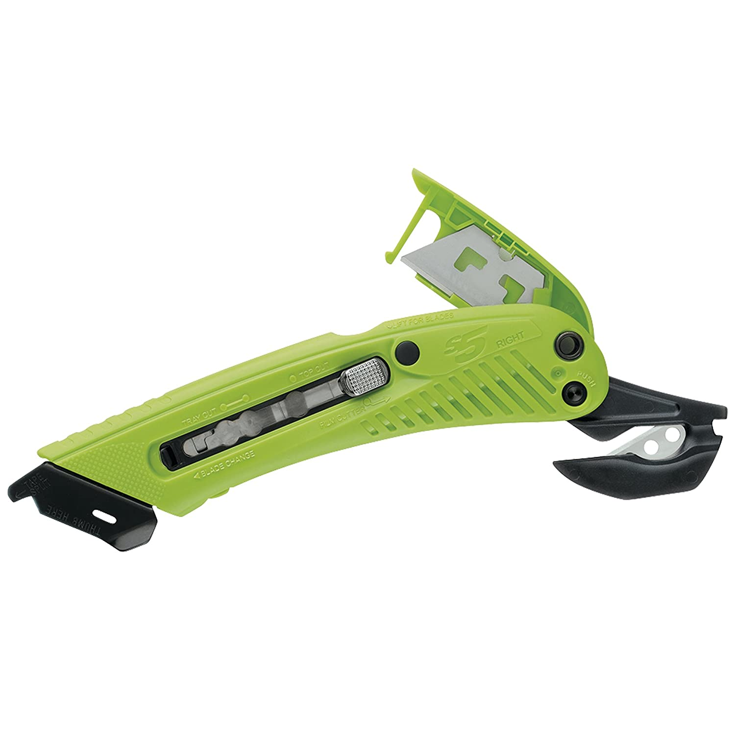 S5 KN124 Safety Cutter Utility Knife, Right Handed (Pack of 12): Amazon.in:  Industrial & Scientific